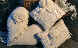 2012 reflections, crafts, wreaths, Linen and Lace Pincushion Trio