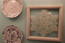 framing lace, home decor