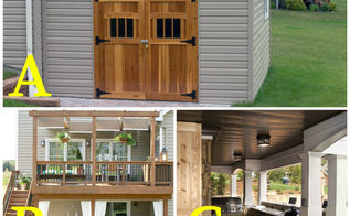 how would you utilize the space below your deck, decks, outdoor living, storage ideas