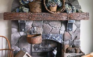 bigger is better with this waterfall of hydrangeas for a fall mantel, flowers, gardening, home decor, hydrangea, seasonal holiday decor, The fireplace mantel is wearing a new fall ou