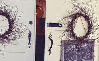farmhouse 38 art studio doors, chalkboard paint, curb appeal, doors, painting
