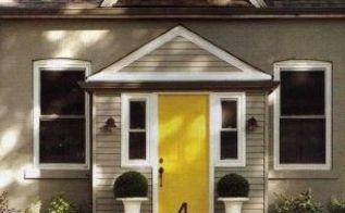 yellow doors i heart you, curb appeal, doors