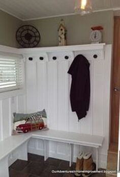 mudroom remodel from pass through to fab, diy, home improvement, laundry rooms, The mudroom is complete