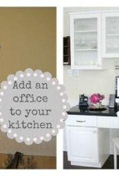 kitchen office, craft rooms, home decor, home improvement, home office, kitchen design, Before it was just an ugly wall