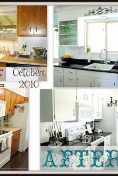 my full kitchen transformation, home decor, kitchen backsplash, kitchen design, Before and after pictures It s a totally different kitchen