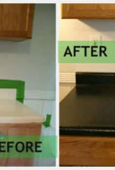 rustoleum countertop transformations review, countertops, Before laminate was scratched and stained
