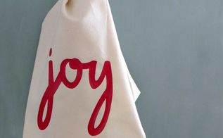 diy christmas dish towel, christmas decorations, seasonal holiday decor