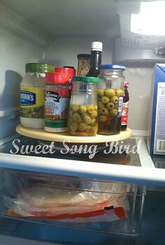 my organized fridge, appliances, organizing, Lazy Susan