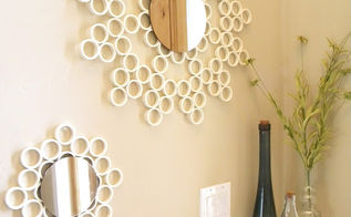 pvc pipe mirror, bedroom ideas, diy, repurposing upcycling, You can spraypaint the pipe before hand for a more colorful look