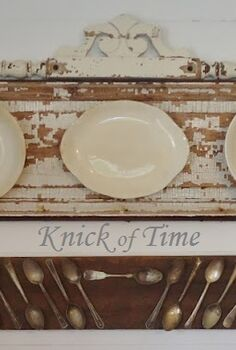 chippy door salvage ironstone plates love, doors, home decor, repurposing upcycling, Ironstone and Tarnished Spoons Displays
