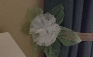 dryer sheets flower, crafts, repurposing upcycling, Now what to do with it Maybe add as a tie back to my curtains What do you think