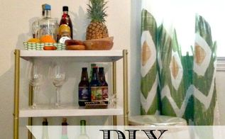diy painted curtains, crafts, home decor, painting, woodworking projects