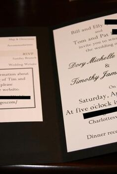 wedding flashback making pocketfold invitations
