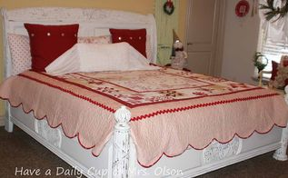 make over of my bed going from dark to light, bedroom ideas, chalk paint, painted furniture, After