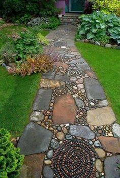 q want to know the source to purchase garden path stones that look like, concrete masonry, landscape, outdoor living