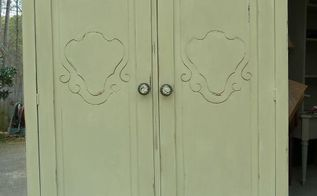 armoire makeover ascp versailles, chalk paint, painted furniture, After