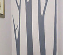 trees in the powder room seriously, bathroom ideas, home decor, paint colors, painting, wall decor