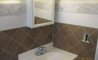 tiling our rental house bathroom, bathroom ideas, tiling, Too Beautiful