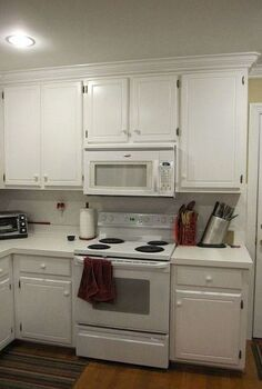painted and glazed kitchen cabinets, home decor, kitchen cabinets, kitchen design, painting, Before