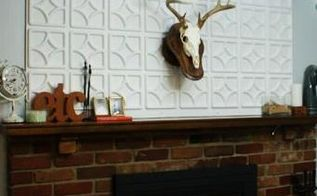diy fireplace installation, diy, fireplaces mantels, home decor, how to, painting, Here is the fireplace installation all complete and somewhat accessorized