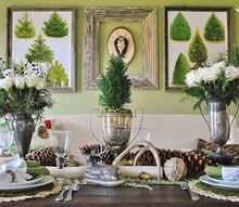 woodland christmas in the dining room, christmas decorations, dining room ideas, seasonal holiday decor