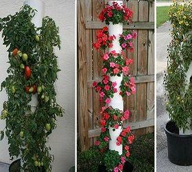10 Diy Vertical Garden Ideas, Diy, Gardening, PVC Pipe Is Safe For Veggie