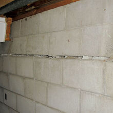 signs of a settling foundation, concrete masonry, home maintenance repairs