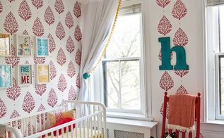 a sari paisley stenciled nursery, bedroom ideas, painting, wall decor