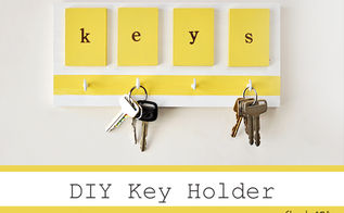 diy key holder, cleaning tips, crafts