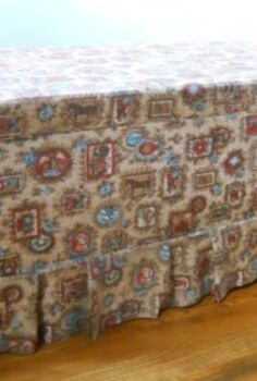 how to repurpose an old toy box, painted furniture, repurposing upcycling, reupholster, This is the before I took it apart and reinforced it upholstered to create a functional piece with storage