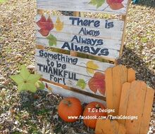 easy to make pallet yard art, crafts, pallet, seasonal holiday decor, There is Always Always Always Something to be Thankful For Pallet Yard Decoration