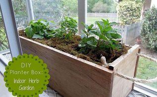diy planter box herb garden, diy, gardening, Easy wooden planter box to grow your favorite herbs indoor