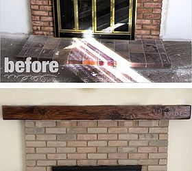 Fireplace Remodel - Paint & Stain | Hometalk
