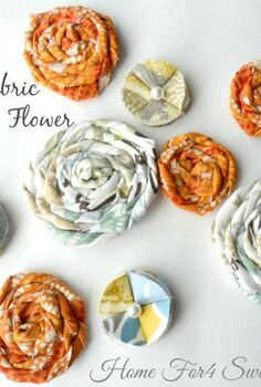 quick how to make a fabric rosette fabric flower, crafts, wreaths