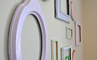 diy frame wall, crafts, home decor, shabby chic, wall decor, Simply paint and hang your frames