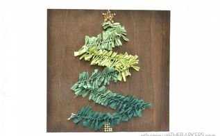 how to make a christmas tree wall art, crafts, seasonal holiday decor, Finished Christmas Tree