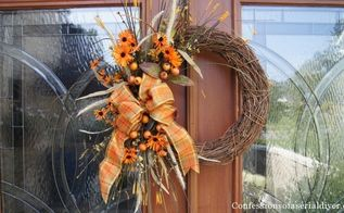 easy diy fall wreath, crafts, seasonal holiday decor, wreaths, Tada