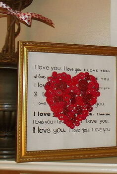 easy to make i love you valentine heart picture, crafts, seasonal holiday decor, valentines day ideas