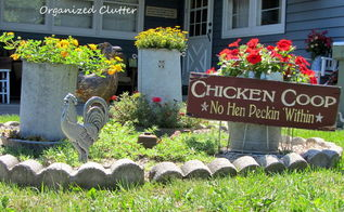 garden roosters hens and chicks, gardening, outdoor living, repurposing upcycling