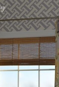 diy faux bamboo shade, crafts, window treatments, windows