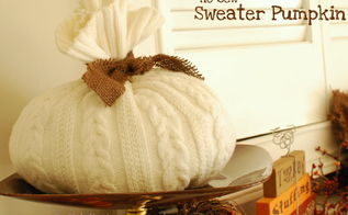 diy wednesday no sew sweater pumpkin tutorial pumpkin contest, crafts, seasonal holiday decor, Photo courtesy of