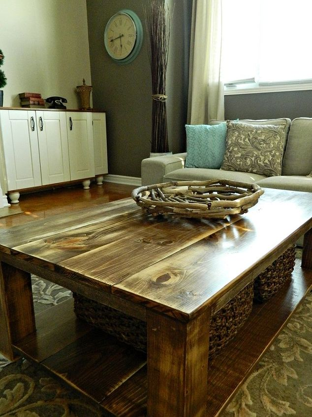 Diy Rustic Coffee Table With Storage In About 3 Or 4 Days Diy Painted
