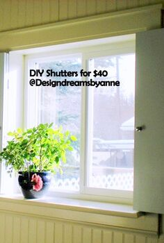 top 10 diy projects of 2012, crafts, diy, how to, mason jars, DIY Shutters made from one 1x8 pine board