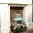 faux fireplace pallet wood fire box, fireplaces mantels, home decor, pallet wood fire box insert