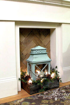 faux fireplace pallet wood fire box, fireplaces mantels, home decor, pallet wood fire box insert