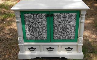 revamping an old console tv into a fantastic chest, painted furniture
