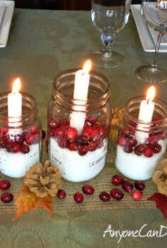 simple diy holiday centerpiece, christmas decorations, seasonal holiday decor, thanksgiving decorations