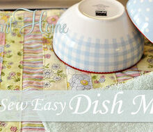 sew easy dish mat, crafts, Strips of fabric on one side and terry cloth on the other side make a pretty and perfect dish mat
