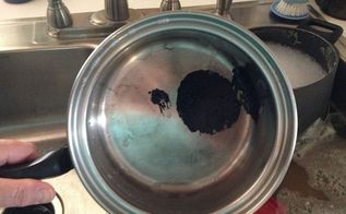 q how to remove melted plastic on stainless steel, cleaning tips