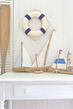 driftwood boats, home decor
